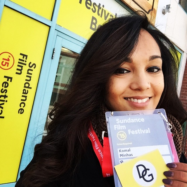 That time Komal decided to go to Sundance and wrote Producer on her badge for Dream, Girl.