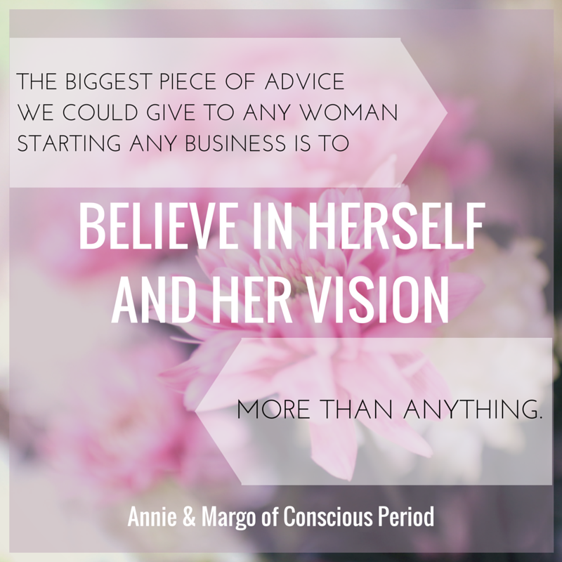 The biggest advice we could give to any woman starting any business is -2
