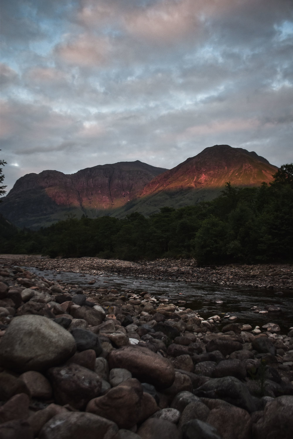 Sunset in Glen Coe