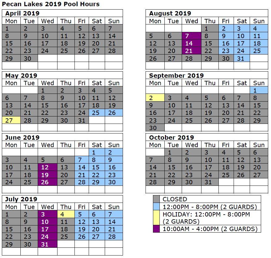 2019 Pecan Lakes Color Schedule.JPG