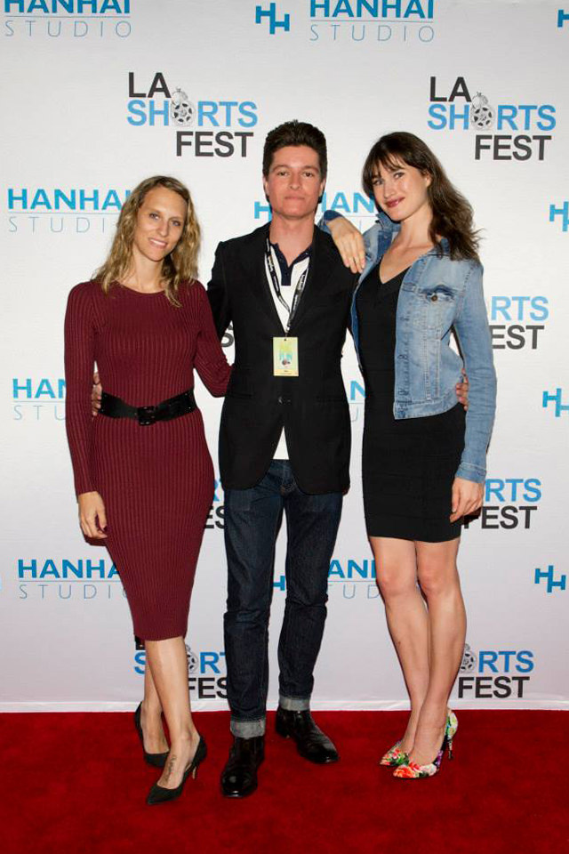 "Nicolas Wendl at the LA SHORTS FEST premiere of ""ELISA"" with writer/producer Tiziana Giammarino and actress Mariah Bonner."
