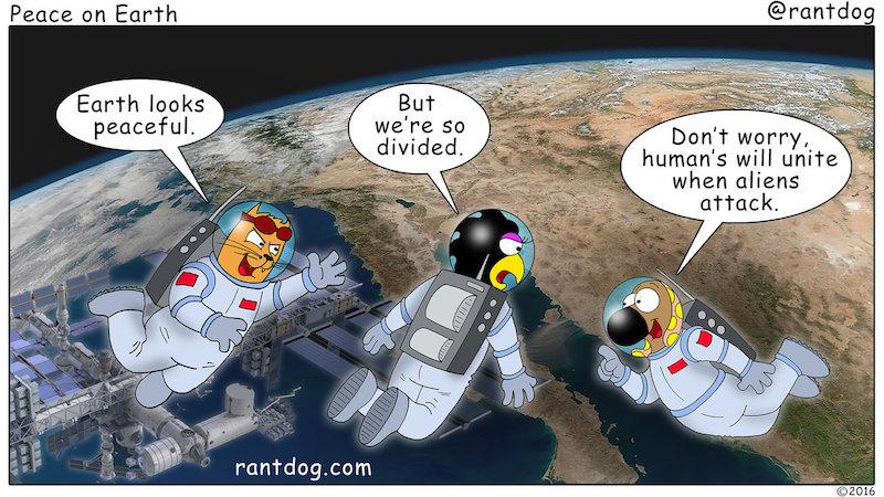 Rantdog Comic World Peace Aliens