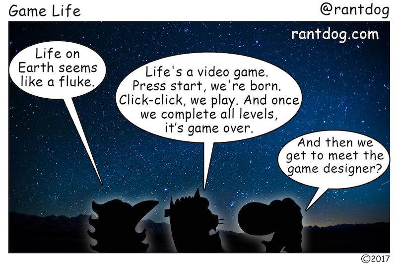 Rantdog Comic Video Games Life