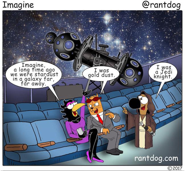 Rantdog Comic Stardust Jedi Universe Space