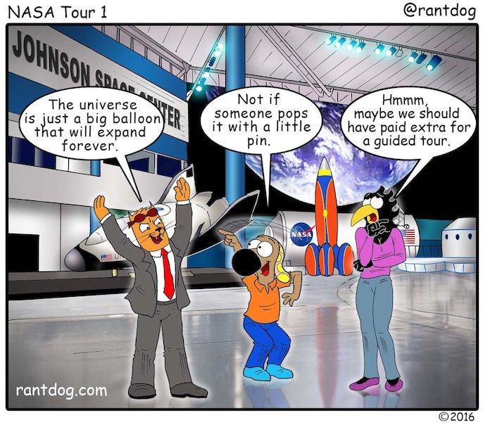 Rantdog Comic Johnson Space Centre Universe Balloon