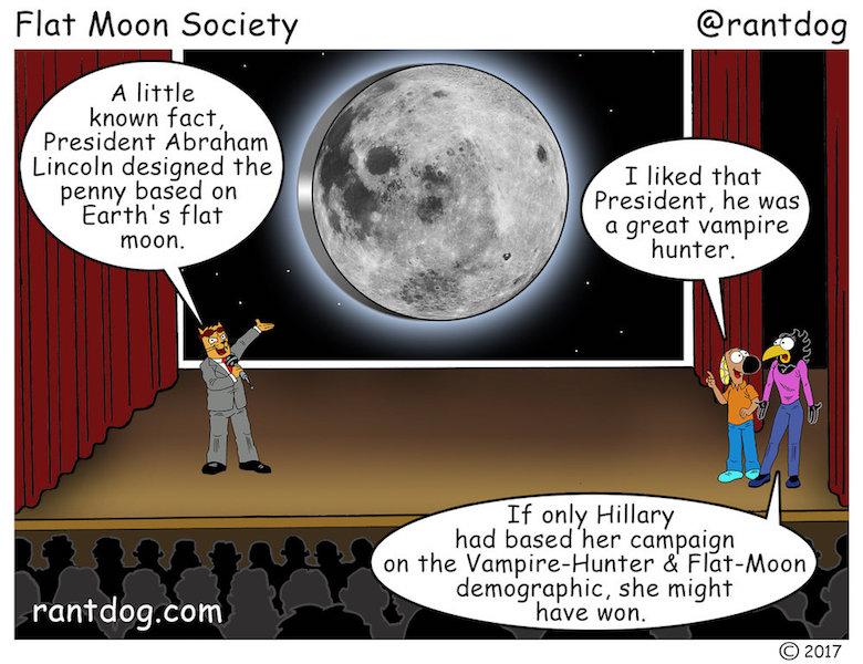 Rantdog Comic Flat Moon Lincoln Vampire Hunter