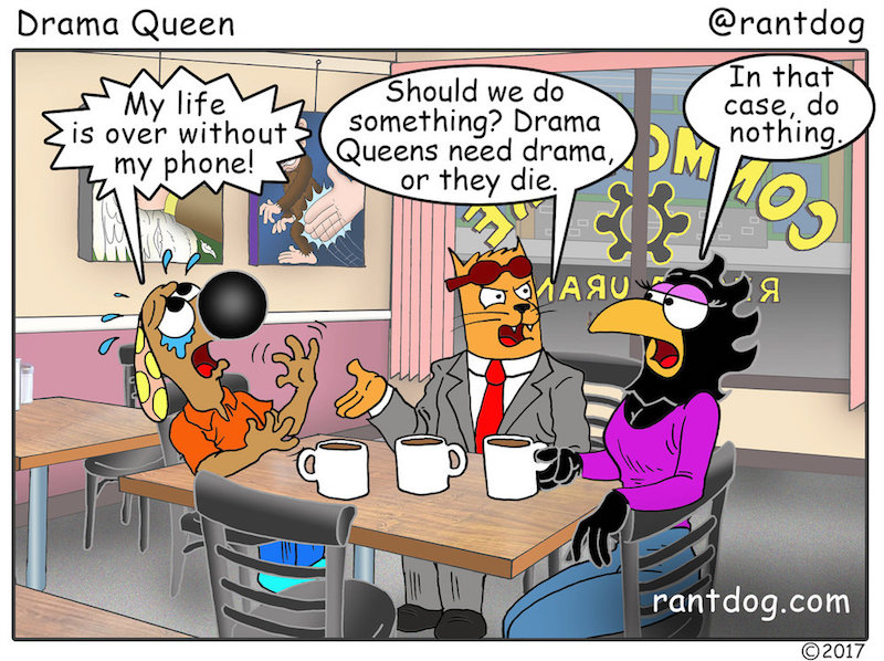 Rantdog Comic Lost phone Drama Queen