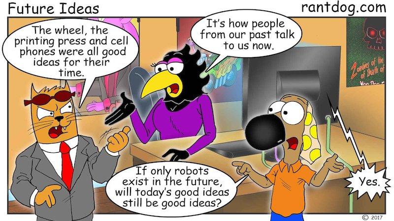 Rantdog Comic Inventions Communication Robots