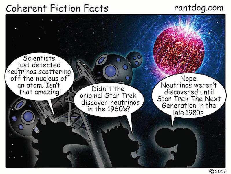 Rantdog Comic Neutrinos Science Star Trek
