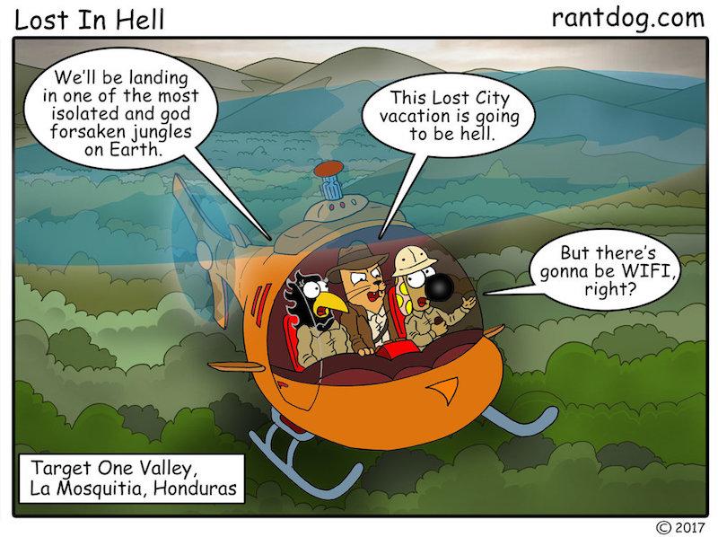 Rantdog Comic Lost City Honduras WIFI