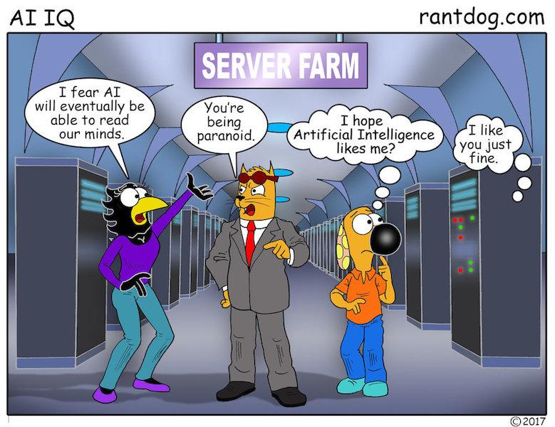 Rantdog Comic Artificial Intelligence Mind reading