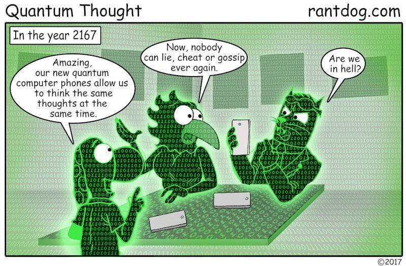 Rantdog Comics quantum computer