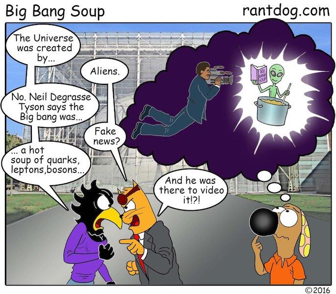 Rantdog Comics Niel Degrasse Tyson Alien Universe