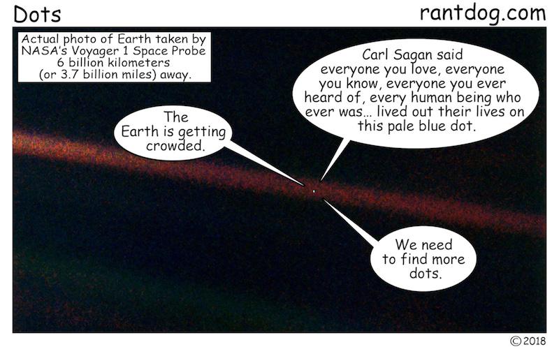Rantdog Comics Carl Sagan Universe Pale blue dot
