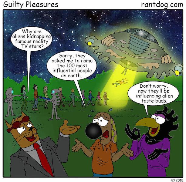Rantdog Comics Reality TV Stars