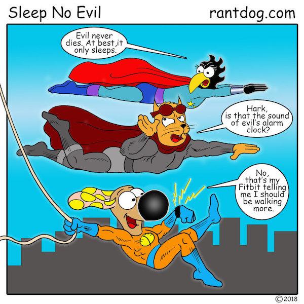 Rantdog Comics Superheros Evil Fitbit