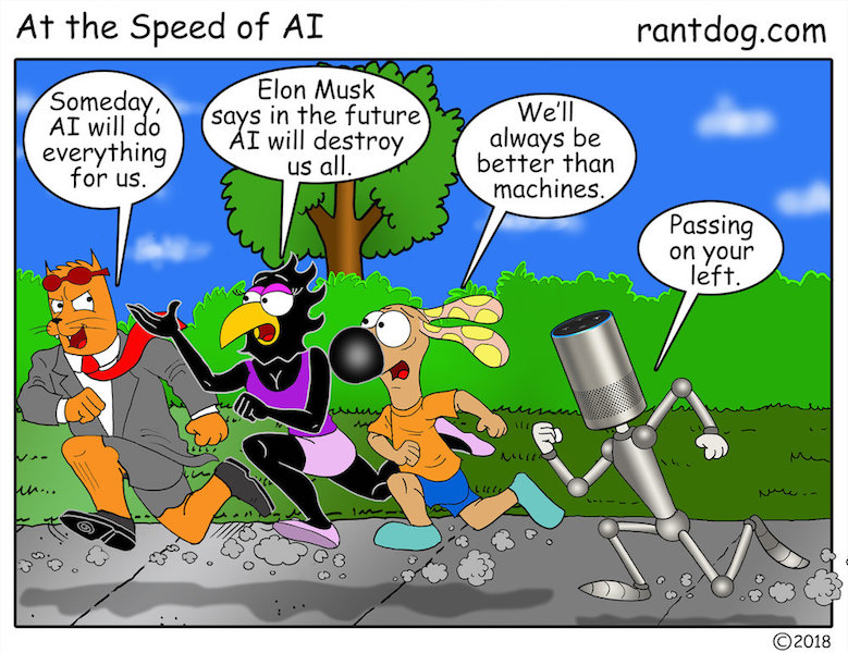 Rantdog Comics Artificial Intelligence Robots Jogging