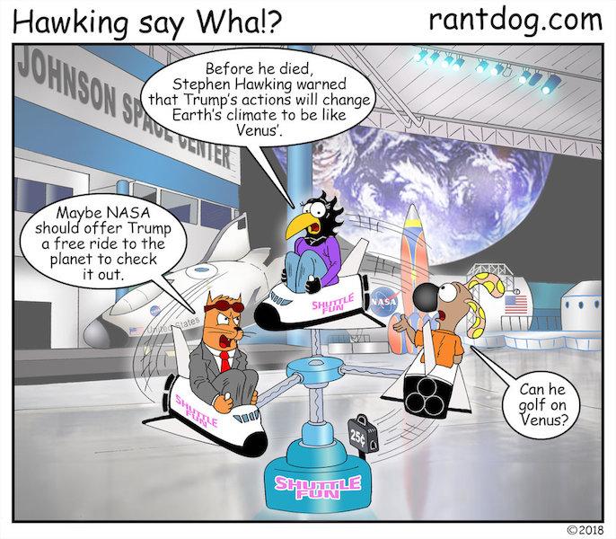 Rantdog Comics NASA Trump Space Golf