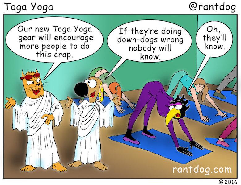 Rantdog Comics Yoga Toga