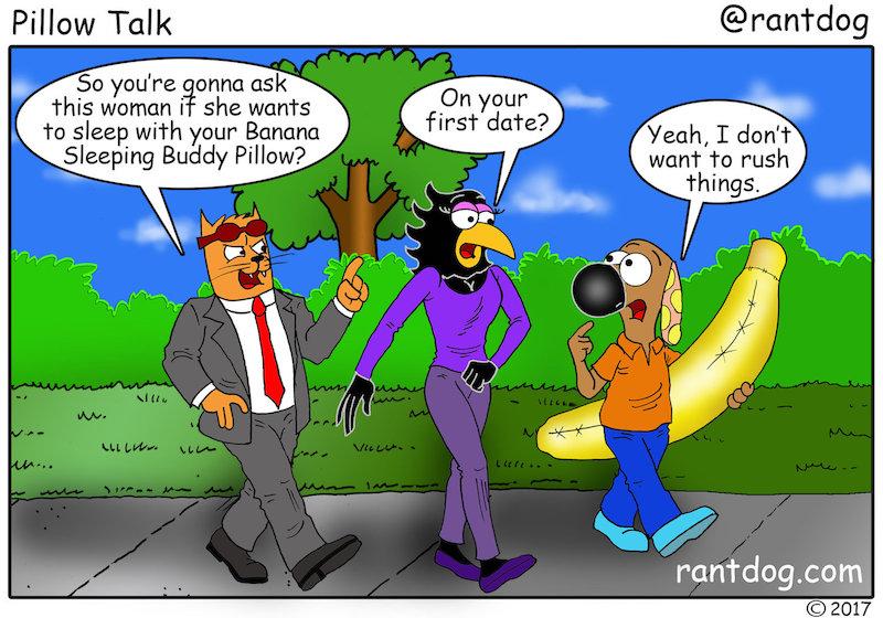 Rantdog Comics Banana Sleepover First Date