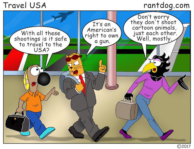 Rantdog Comics Guns Air Travel