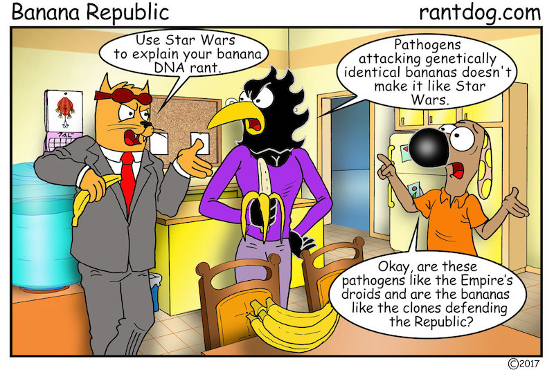 Rantdog Comics Star Wars DNA Banana