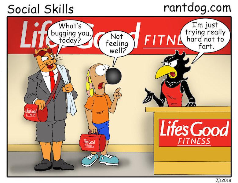 Rantdog Comics Fitness Fart