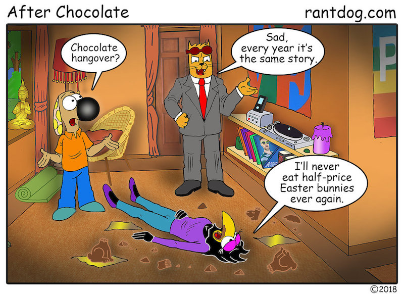 Copy of Rantdog Comics Easter Discount Chocolate