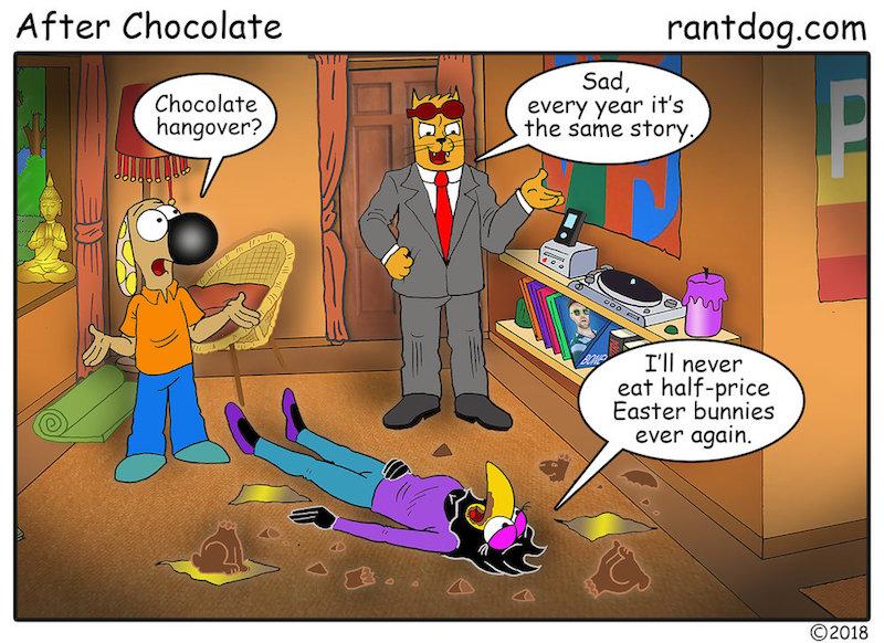Rantdog Comics Easter Discount Chocolate