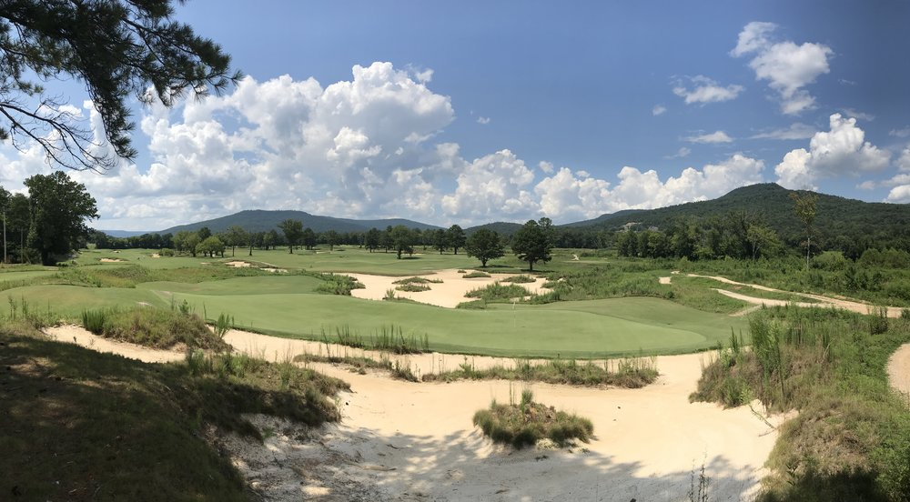 The view from behind the ninth green, overlooking the entire golf course. (August, 2018)