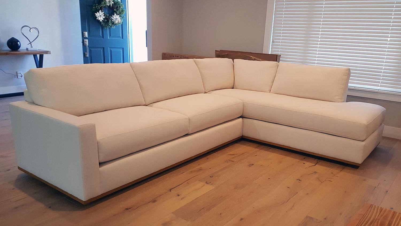 Dubliner style wood base sectional furniture envy