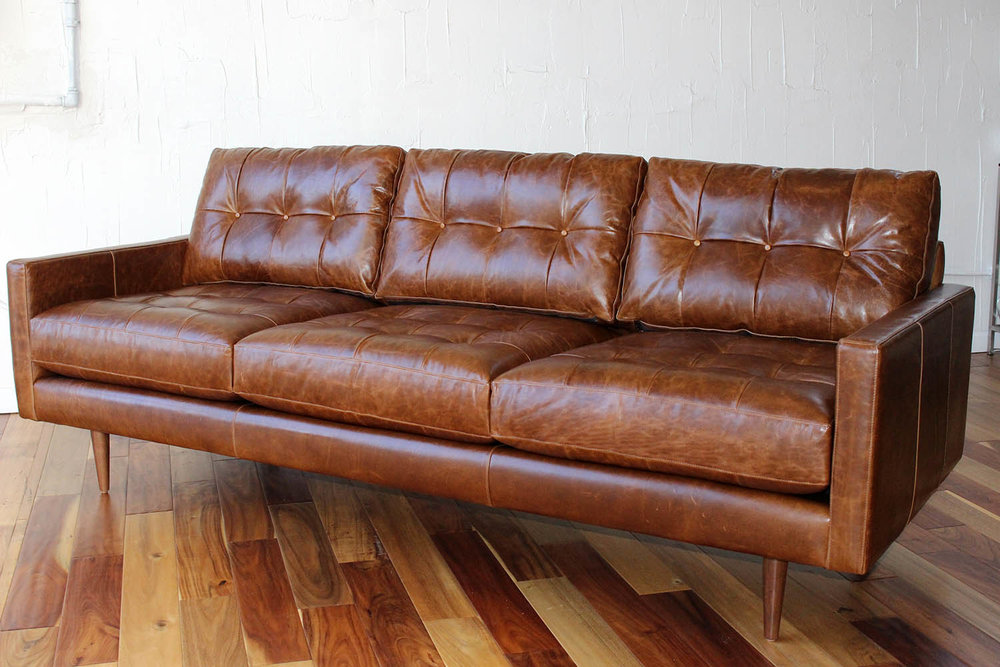 Petra Style - Leather Sofa 3 Over 3 — Furniture Envy