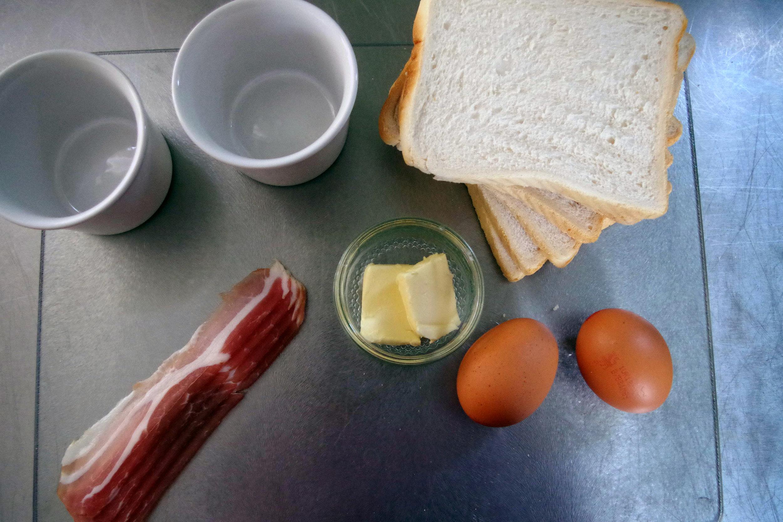 Bagon, Eggs, Bread, Butter