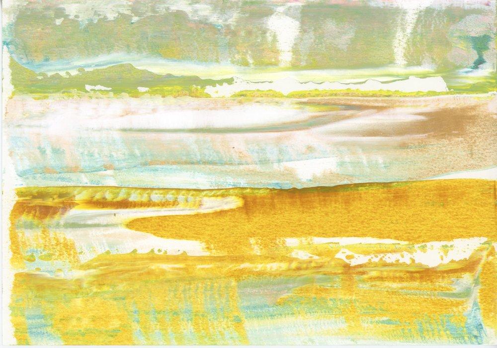 pb#11, 7x10, paper, acrylics, 2018