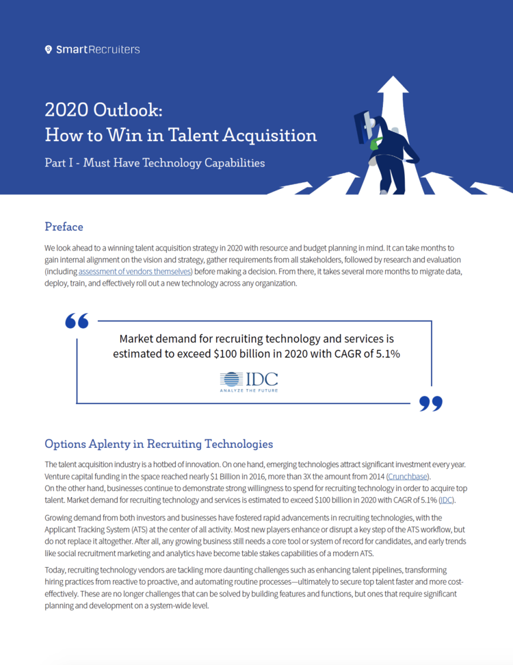 2020 Outlook: How to Win in Talent Acquisition — Ellie Bier