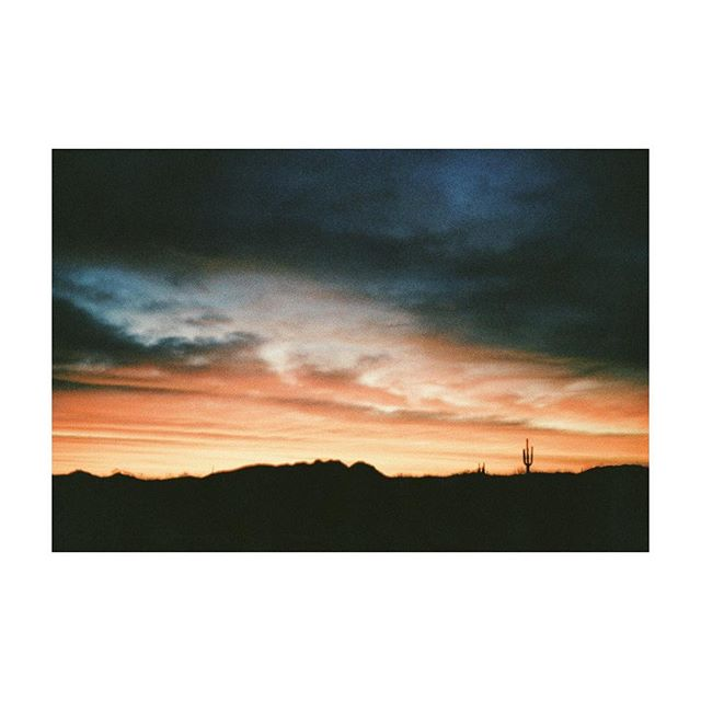 weekend vibes + arizona sunrise. #35mm