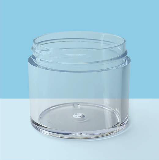 2oz 53mm Thick Wall Plastic Jar