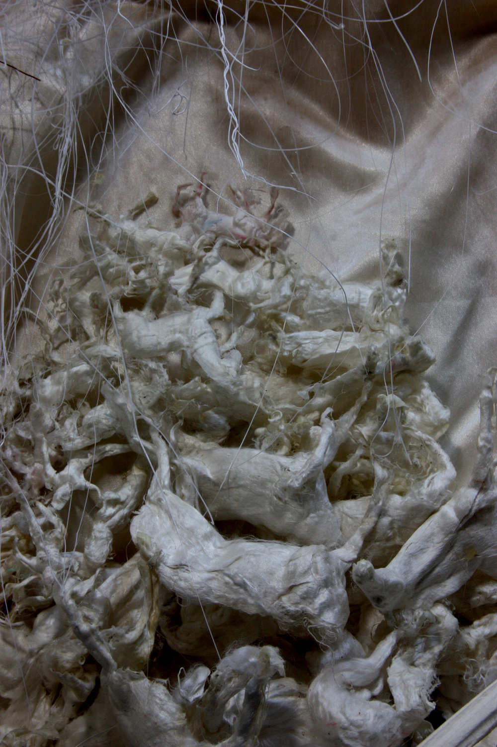 Natural silk and PLA filament  40x35 inches