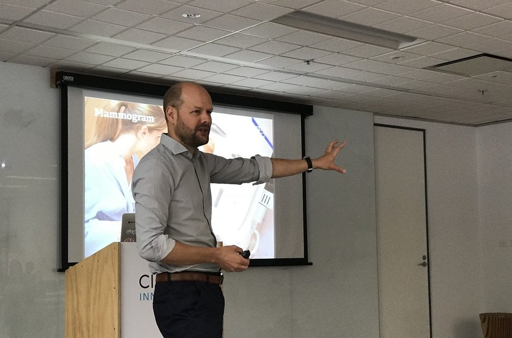 Person presenting