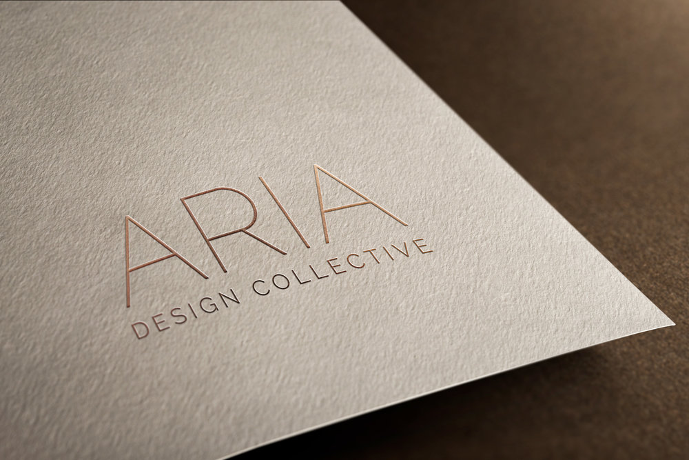 A rose gold foil technique is utilized for print pieces and emulated digitally.