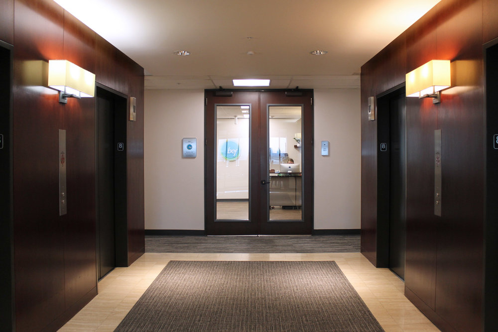 The signage not only brightens up new office space for BEF staff, but it serves as a welcoming gesture and wayfinding for visitors entering from the elevator lobby.