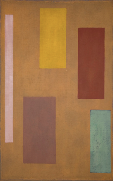 Sparta , 1970-71, acrylic on linen, 219 x 145 cm.