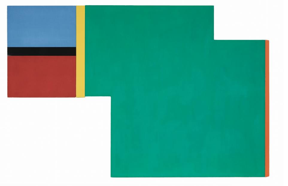 Beam , 1969, synthetic polymer paint on canvas, 152 x 228 cm.