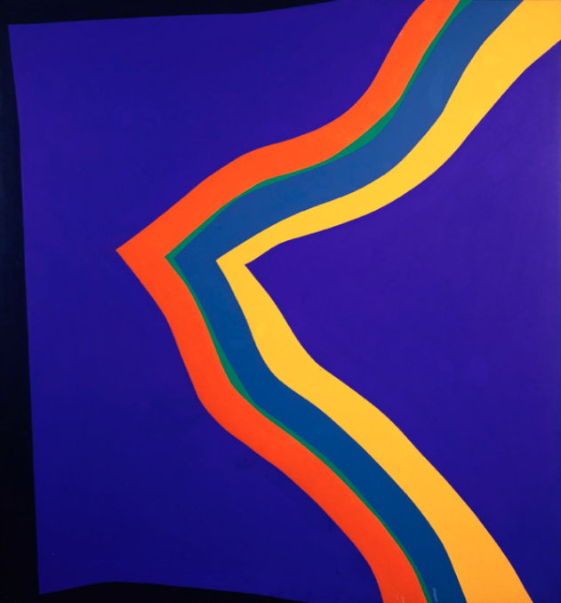Canzon Nama , 1967, synthetic polymer paint on canvas, 183 x 170 cm.