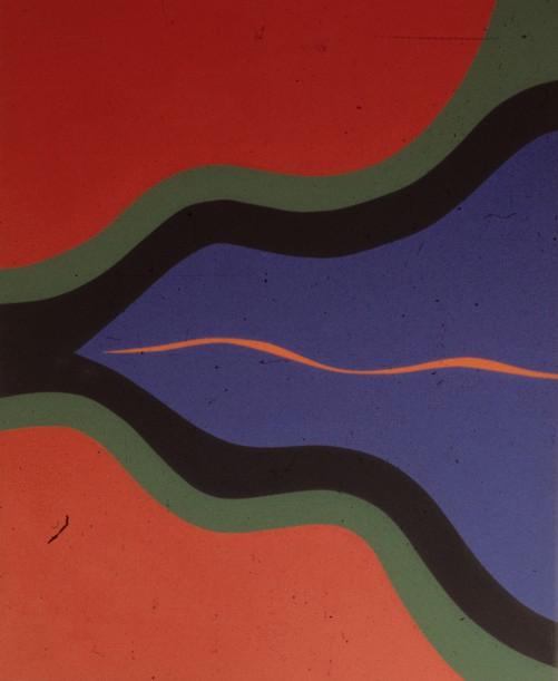 Encounter II,  1966, acrylic on canvas, 172 x 214 cm.