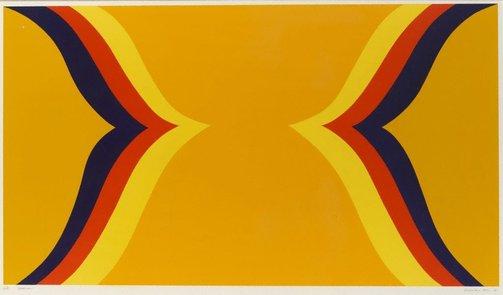 Ispahan , 1967, acrylic on canvas, 183 x 340 cm (diptych).
