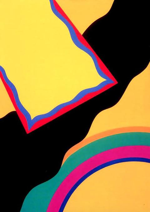 Shiraz Cloud with Rainbow , 1967, acrylic on canvas, 127 x 122 cm.