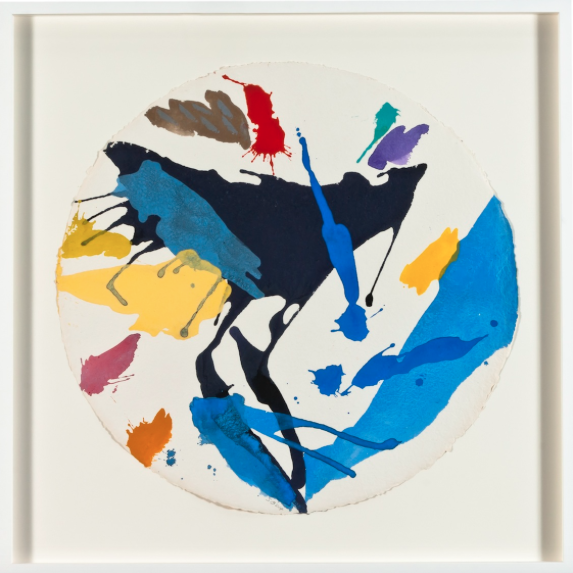 Quadranis , 2014, acrylic on handmade paper, 70 x 70 cm.