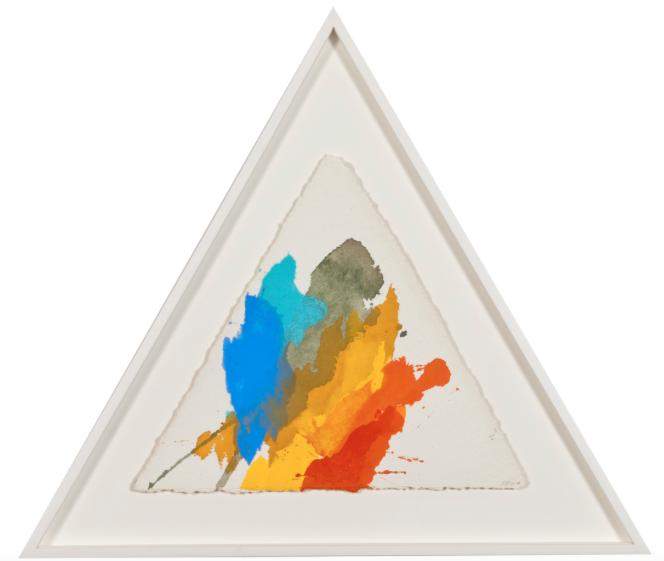 Deep Pine Valley , 2014, acrylic on handmade paper, each side 50 cm (44cm height).