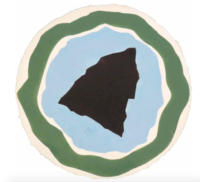 Lumina III , 2010, acrylic on handmade paper, 52 cm (diameter)